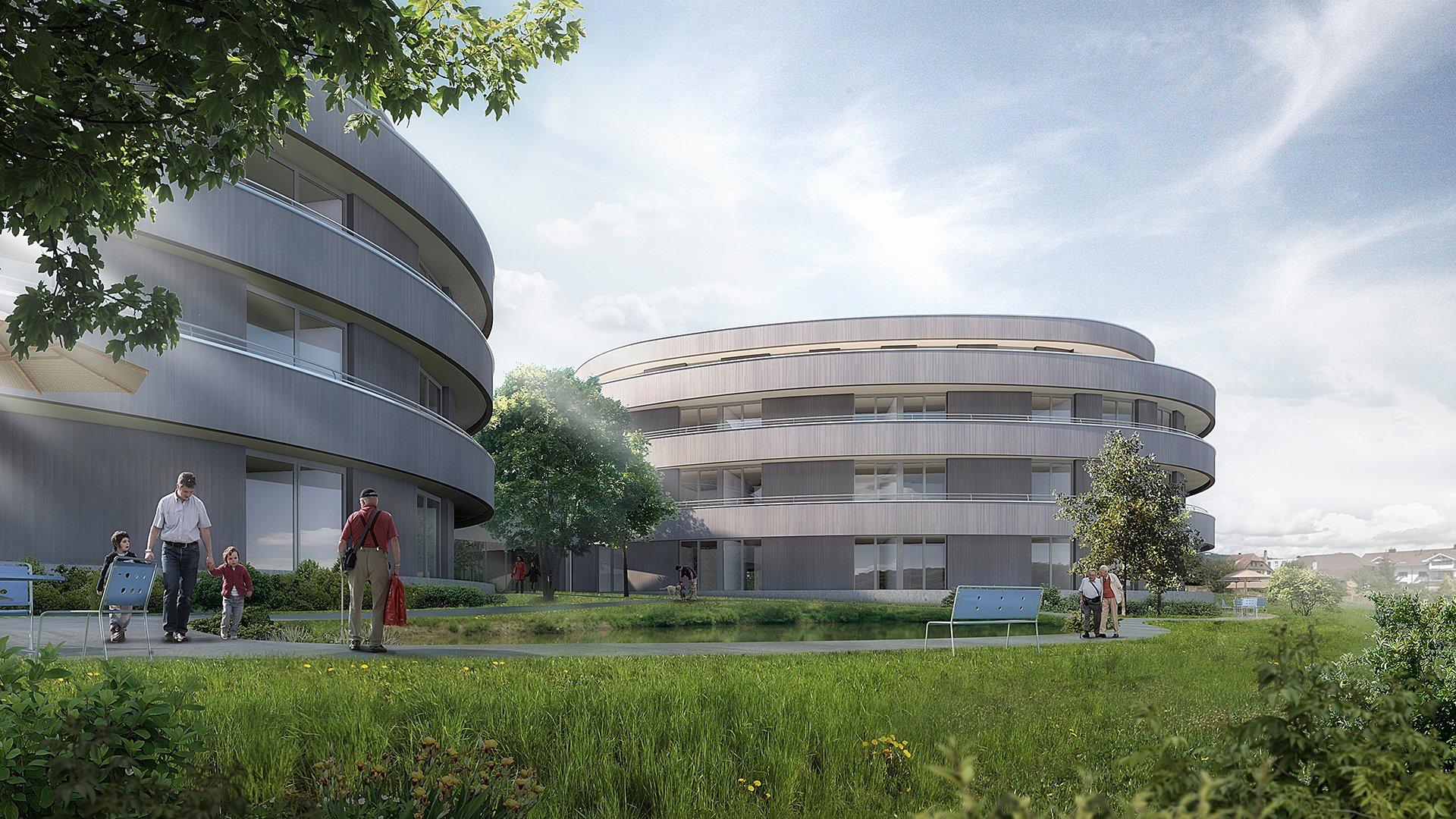 Render Bild neues Gebäude